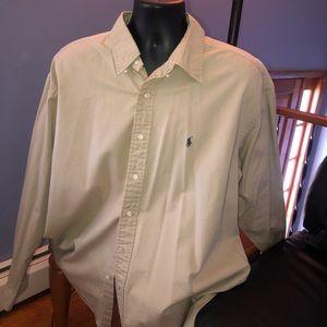 Tan Long Sleeved Ralph Lauren XXL Shirt